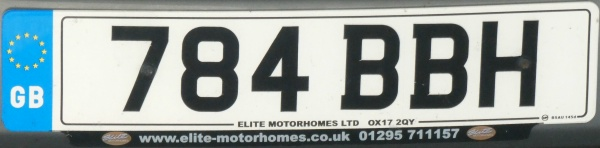 Great Britain former normal series remade as cherished number close-up 784 BBH.jpg (66 kB)
